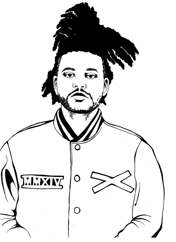 The Weeknd Drawing X3cbx3ethe Weekndx3cbx3e Print By