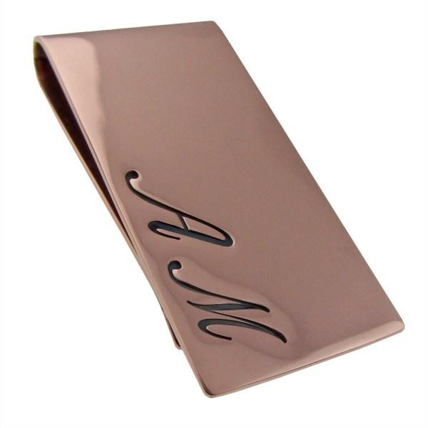 Personalized 14k Gold Money Clip Custom Metal Wallet Men'