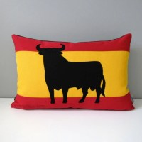 Spanish Flag Pillow Cover Decorative Throw Pillow Case Red