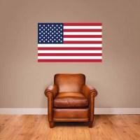 American Flag Patriotic Printed Wall Decal