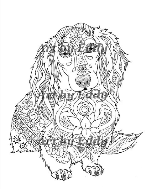Art of Dachshund Coloring Book Volume No. 1 Physical by