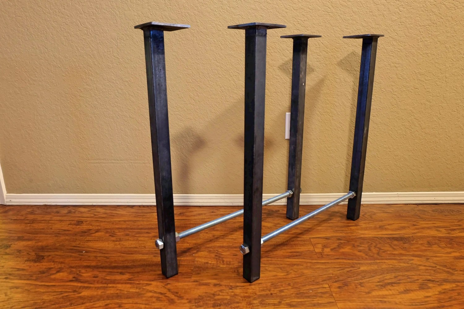 plastic inserts for metal chair legs folding chairs home depot 28 tall x 24 wide table with threaded