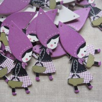 Little Red Riding Hood Decorations 10pcs Purple by