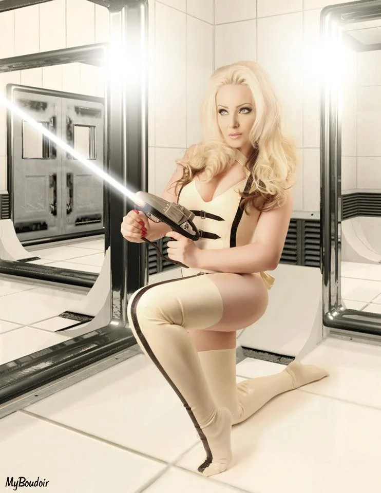 Latex Barbarella Cosplay Outfit Cut Out Body by
