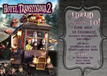 Hotel Transylvania 2 Birthday Party Invitation