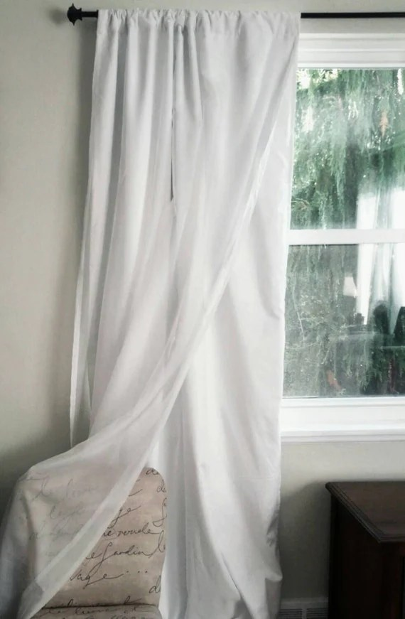 One Blackout Curtain Panel With Voile Overlay Custom Order