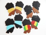 afro puff earrings natural hair