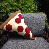 Pizza Pillow Pepperoni Pizza Plush Geeky felt stuffed plush