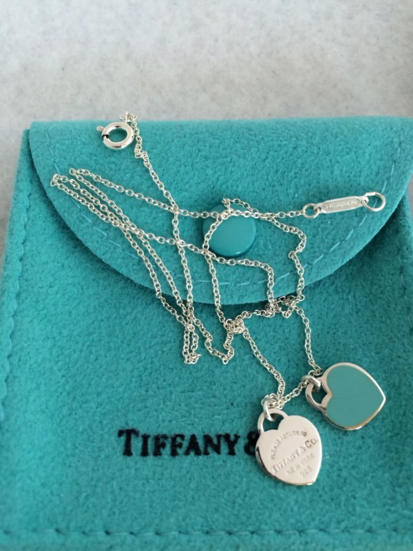 Tiffany And Authentic Double Heart Pendant Trendscouture
