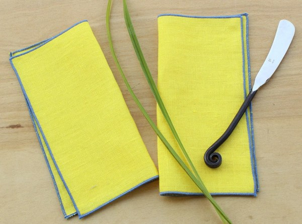 Yellow Cocktail Napkins Linen Cocktail Napkins by KSTYLEDESIGN