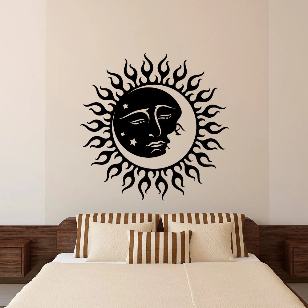 Moon Wall Decal Stickers Sun And Moon Crescent by FabWallDecals