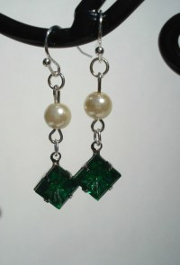 Great Gatsby Inspired Earrings Emerald by SherisUniqueBoutique
