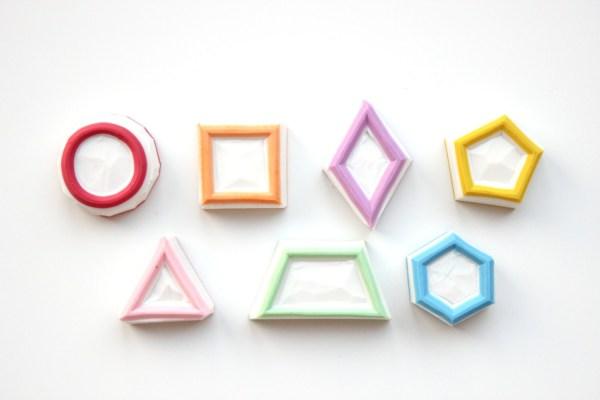 Geometric Shapes Stamp Set Basic Shapes Hexagon Stamp