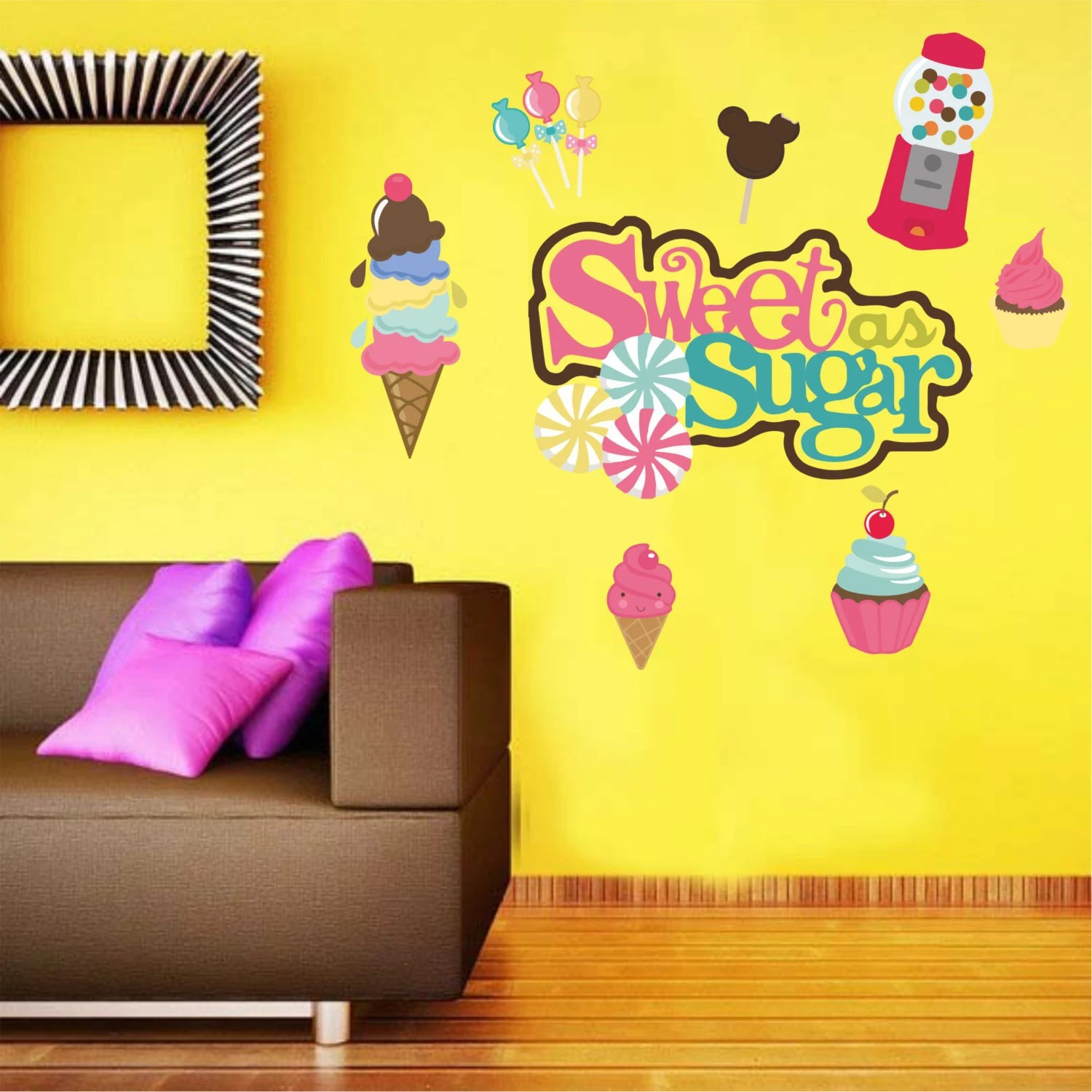 Ice Cream Wall Decal Candy Decal Sweet As Sugar Wall Decal