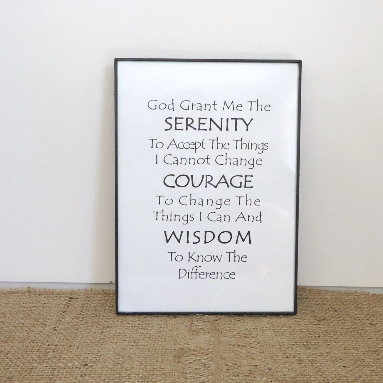 Serenity Prayer 12 Step Recovery T Aa Al Anon Sobriety
