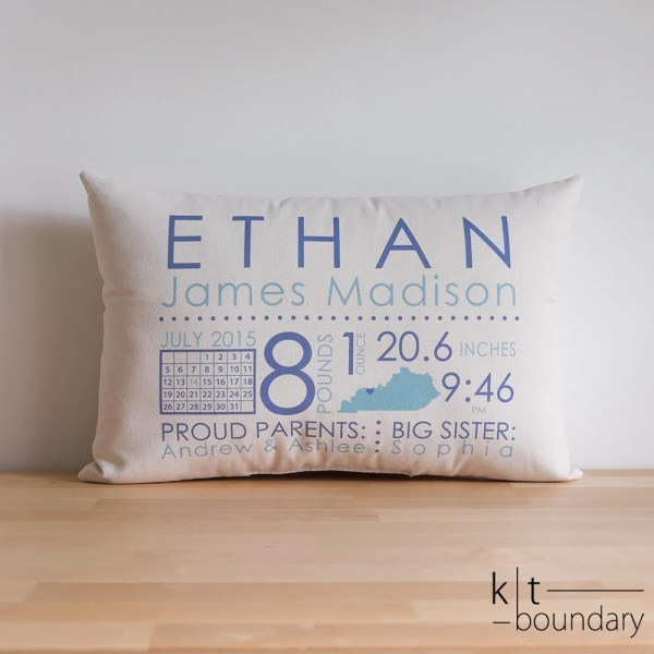 Baby Boy Pillows Personalized