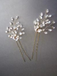 wedding hair crystals swarovski crystal hair pins bridal ...
