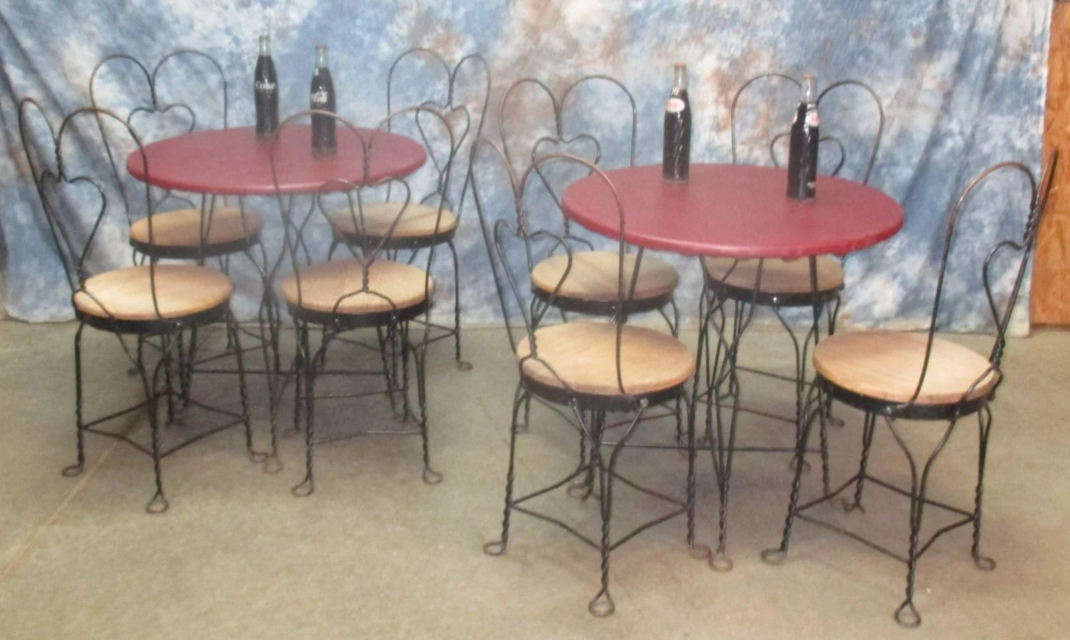 ice cream table and chairs x rocker chair stand kitchen dining