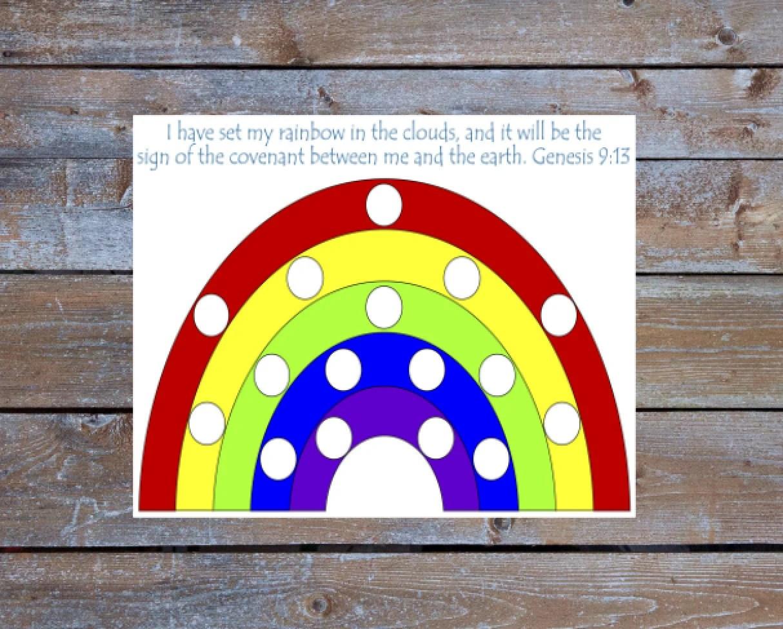 Rainbow Pom Pom Color Matching Preschool Activity Game