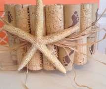 Wine Cork Candle Holder-starfish Beach Wedding Decor-barefoot