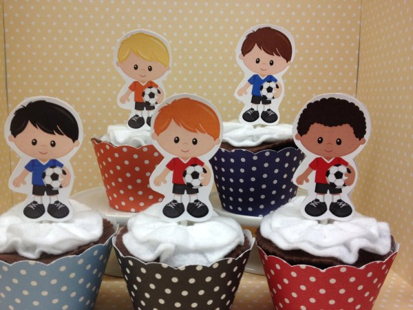Soccer Party Cupcake Topper Decorations Set Of 10