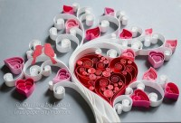 Quilling wall art Paper quilling art Love tree Quilling paper