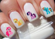 little pony nail decals