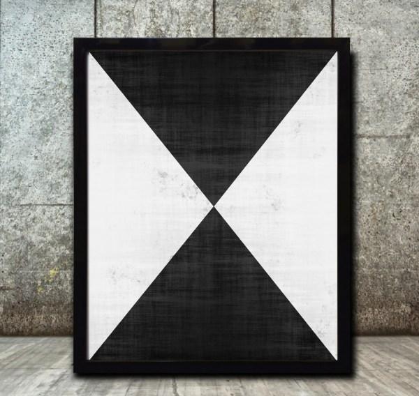 Geometric Art Print Abstract Prints Grunge