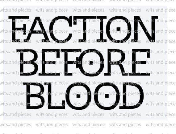 Divergent Inspired Faction Before Blood Auto Window Outdoor
