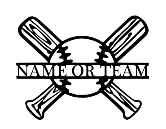 Custom Baseball Softball Sports Sign Wreath Kids by