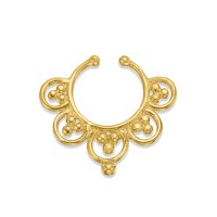 flower septum Gold Septum Jewelry Tribal Septum Ring 14k