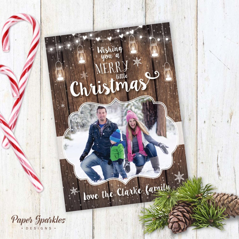 Rustic Christmas Card Printable Christmas Card Holiday
