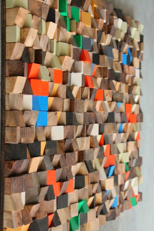 Large Wood Wall Sculpture Abstract Art Reclaimed