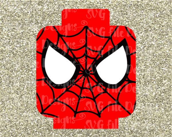 Spiderman Lego Cutting File In Svg Eps Dxf And