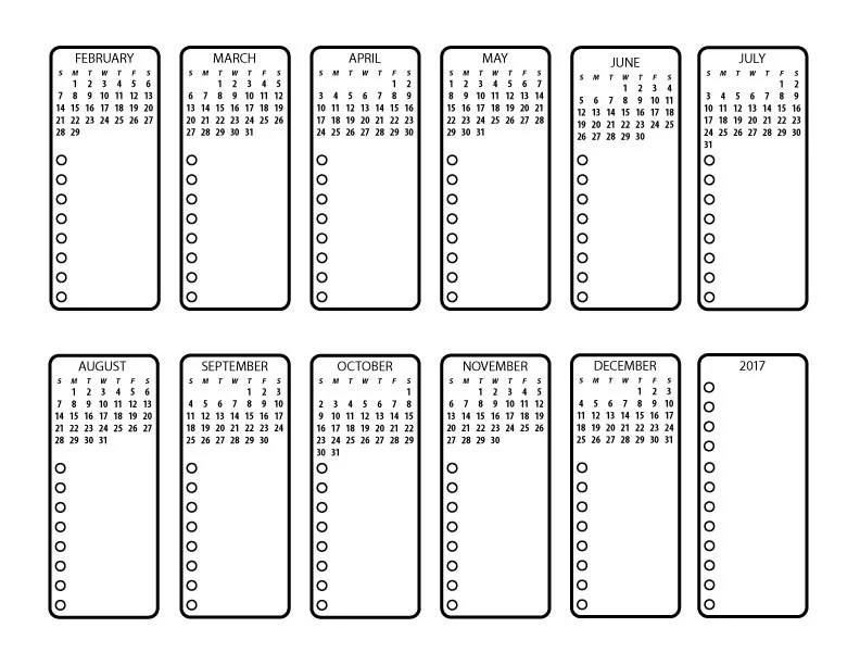 Bullet Journal Printable Future Planning with 2017 Calendar