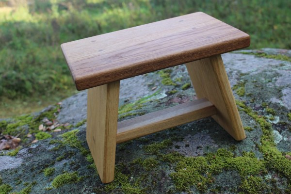 Small Wooden Step Stool Chair