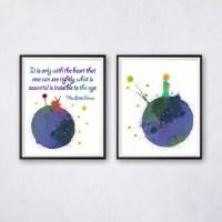 The Little Prince Wall Art Watercolor Printable Kids Nursery
