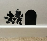 Mickey and Minnie vinyl wall decal Disney wall art vinyl decal