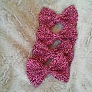 5 pink cheetah print hair bow