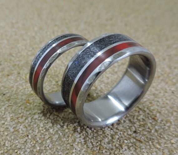 Titanium Rings Meteorite Rings Wedding Rings Wedding Band