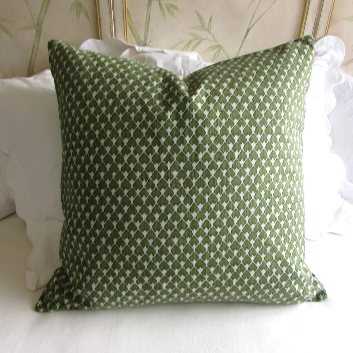 EURO PILLOW COVER 26x26 diegoolive green