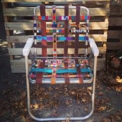 Aluminum Webbed Lawn Chairs Bedroom Chair Black Heeere's Earl Upcycled Recycled Ladder