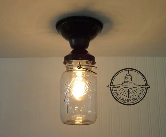 bronze kitchen chandelier samsung appliance packages single vintage quart mason jar ceiling light farmhouse