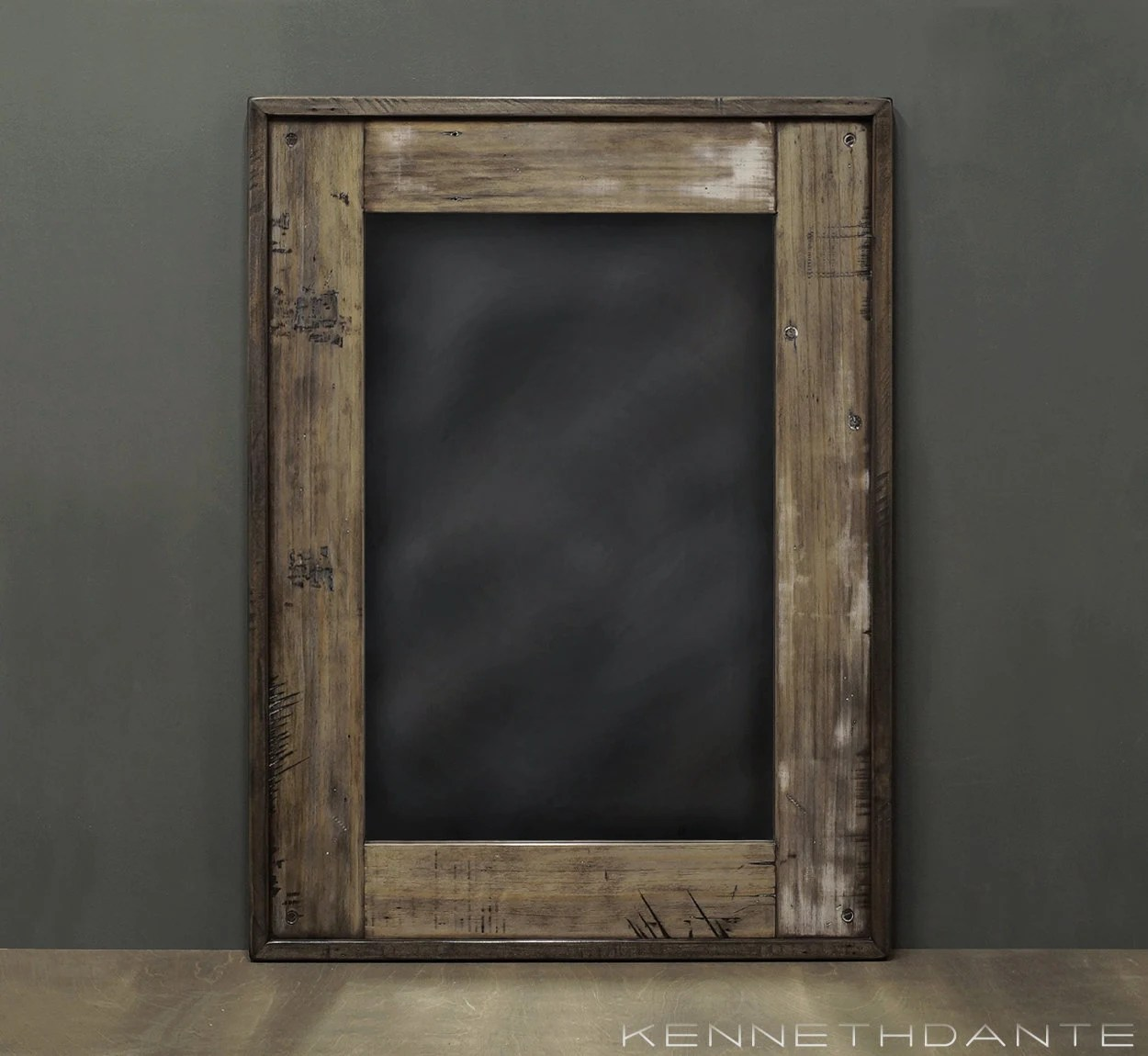 Wood Mirror Bathroom Weathered Distressed with by KennethDante