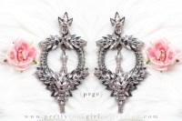 Large Rhinestone Drop Chandelier Earrings Bridal by ...