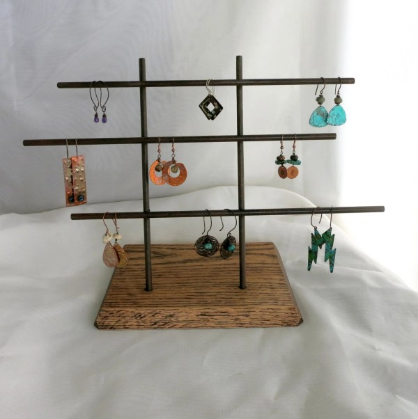 Metal Earring Display Stand Craft Show Jewelry Ready