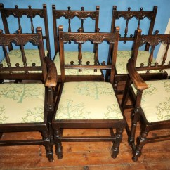 Medieval Dining Chairs Chair Skirt Set Of Six Looking Room With Tree