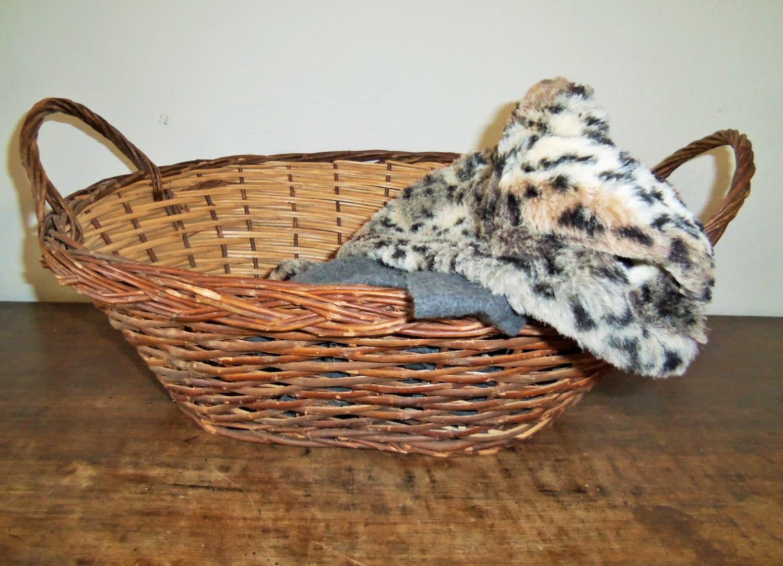 Woven Gathering Basket : Vintage woven gathering basket haute juice