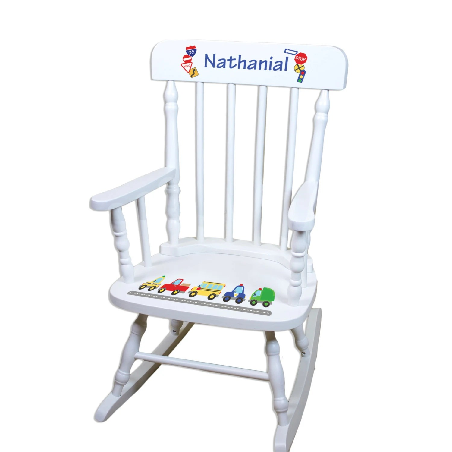 little rocking chairs for toddlers small apartment dining table and boys chair cars police trucks personalized childs