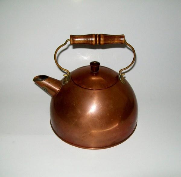 Vintage Copper Tea Kettle Revere Ware Mid Century Modern